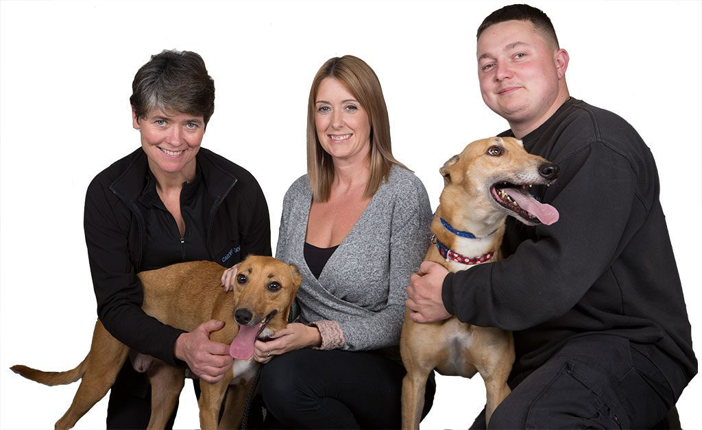 Staff at the dogs home